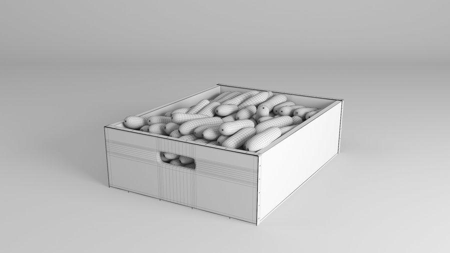 Caja de frutas de pepino royalty-free modelo 3d - Preview no. 9