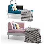 Delaktig Chaise Longe 3d model