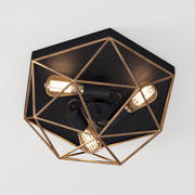 Sufitowa lampa sufitowa z pryzmatycznym drutem 3d model