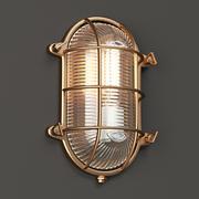 Brass Bunker Light Oval 3d model