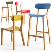Cream stool 3d model