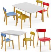 Cream Table 3d model