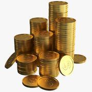 Dollar Goldmünzen 3d model