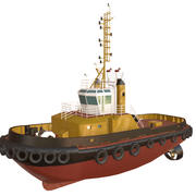 Deep Sea Tug Boat 3d model