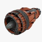 Scifi-vliegtuig Turbinestraalmotor 3d model