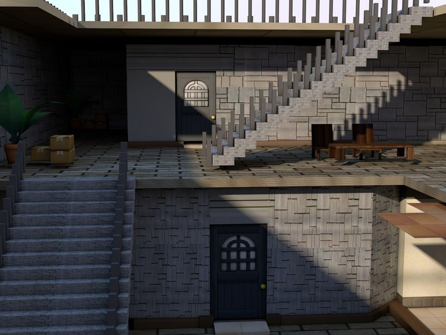 House Of Neighbour royalty-free 3d model - Preview no. 13