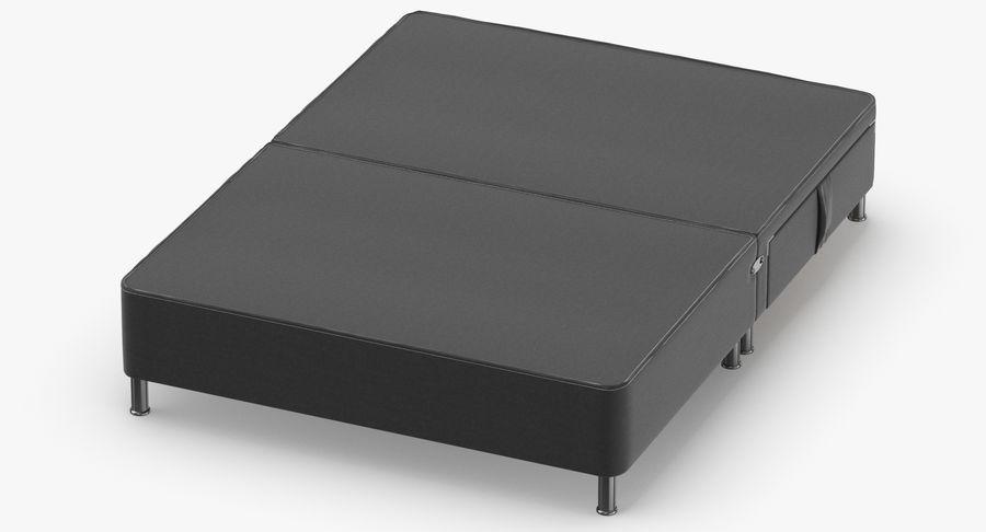 ベッドベース06チャコール1 royalty-free 3d model - Preview no. 4