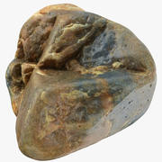 Smooth River Rock 03 3d model