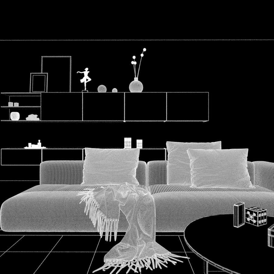 Escena interior royalty-free modelo 3d - Preview no. 1