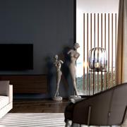 Escena interior modelo 3d