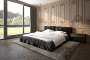 Современный интерьер спальни 3d model