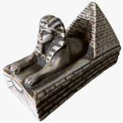 Scanned Statuette Sphinx 01 3d model