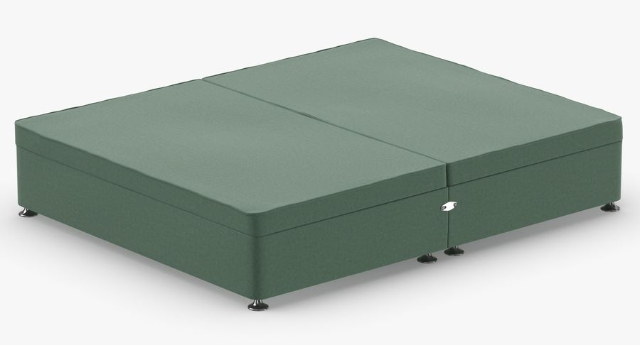 Bed Base 07 Mint royalty-free 3d model - Preview no. 6