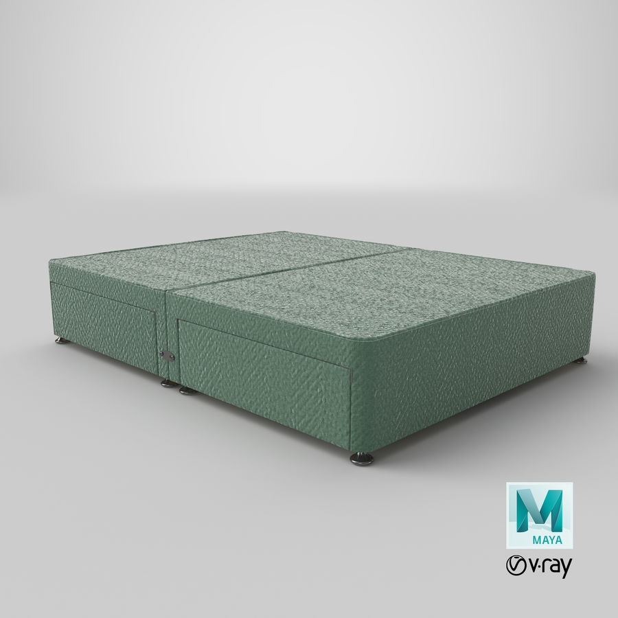 Bed Base 07 Mint royalty-free 3d model - Preview no. 28