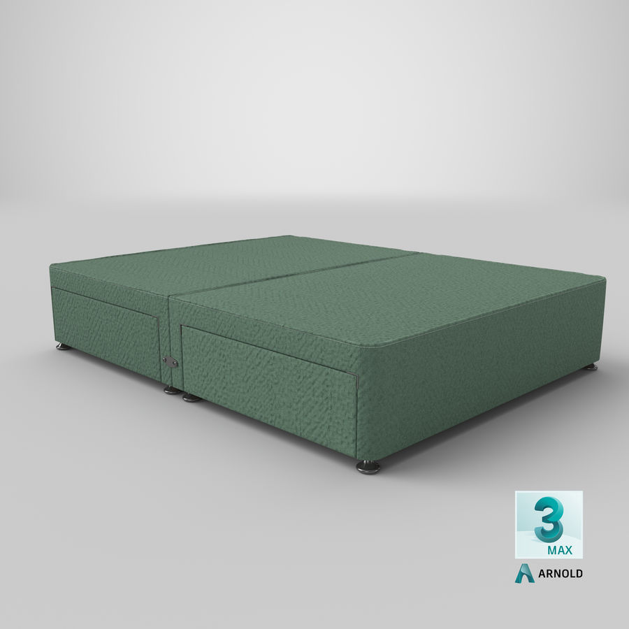 Bed Base 07 Mint royalty-free 3d model - Preview no. 23