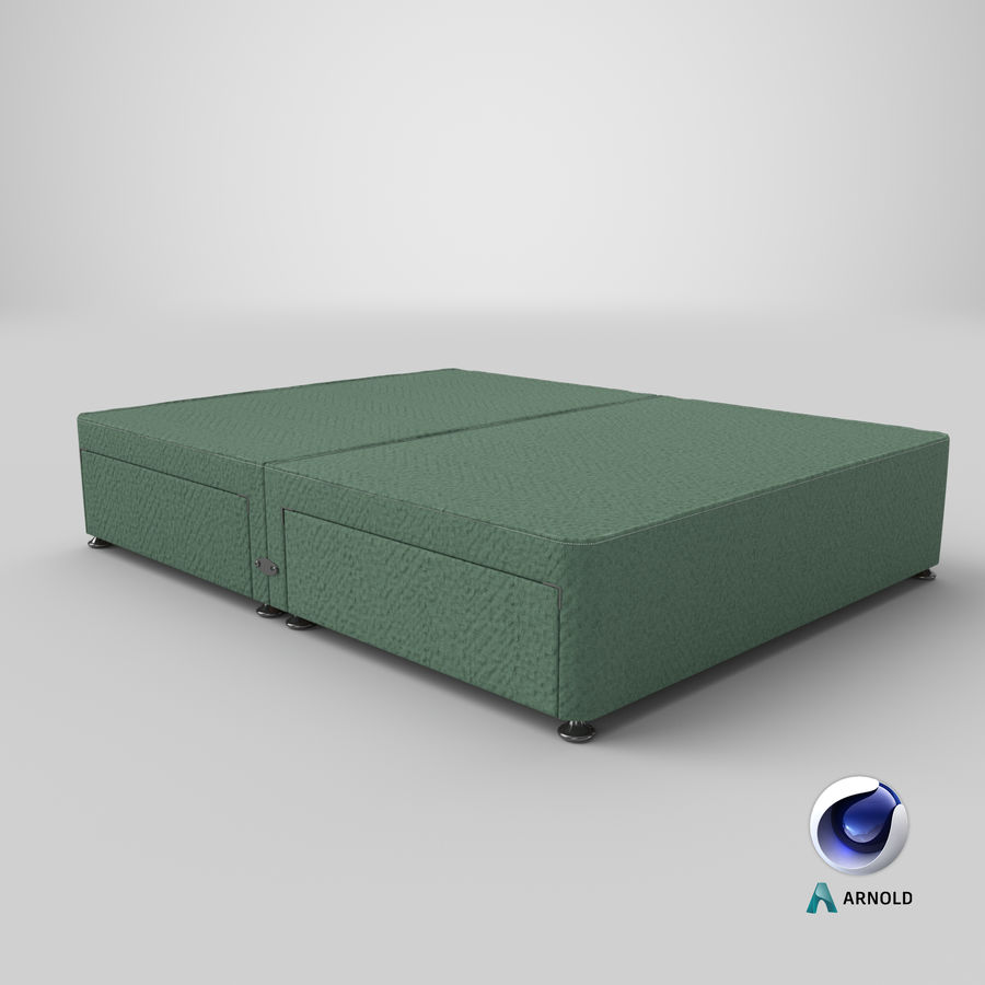 Bed Base 07 Mint royalty-free 3d model - Preview no. 22