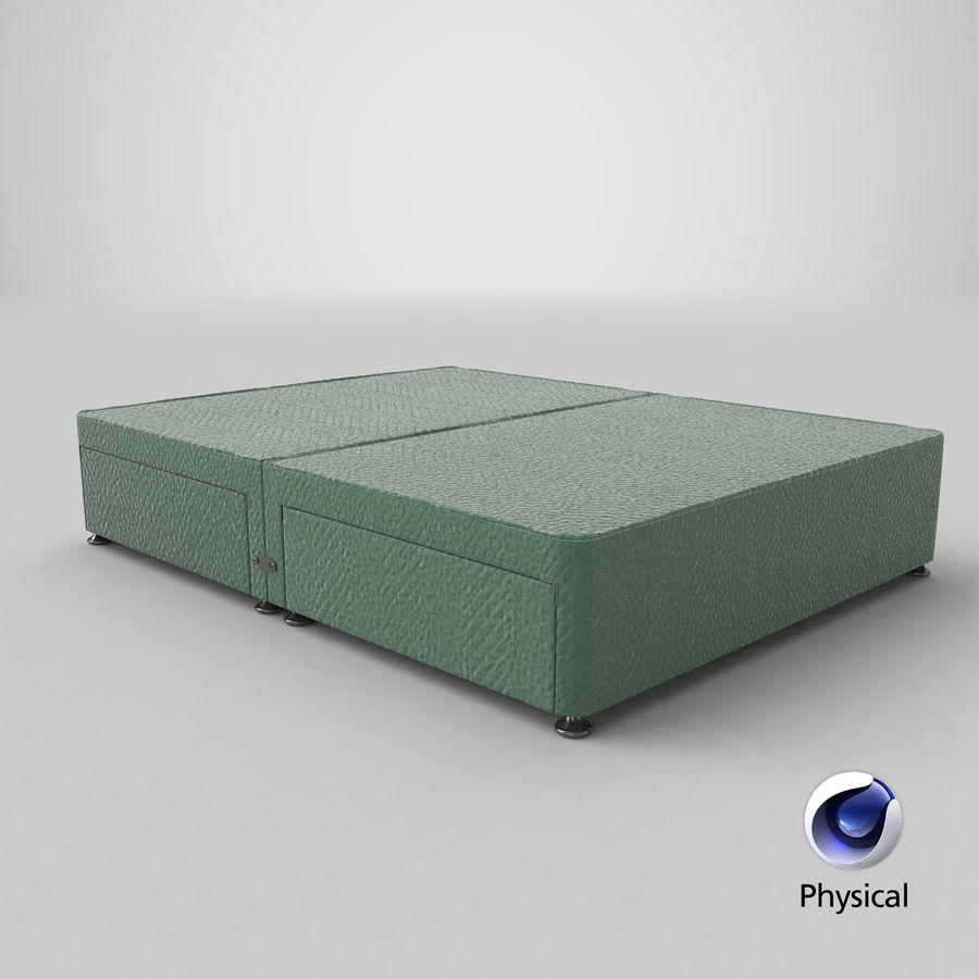 Bed Base 07 Mint royalty-free 3d model - Preview no. 21
