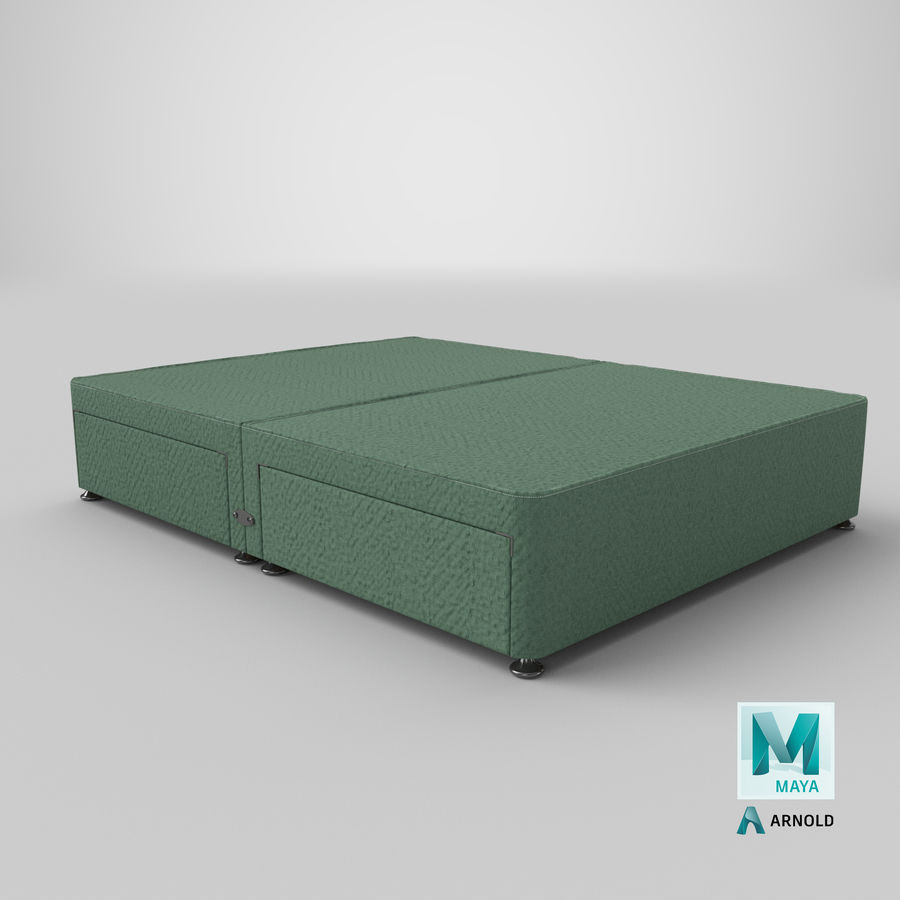 Bed Base 07 Mint royalty-free 3d model - Preview no. 26