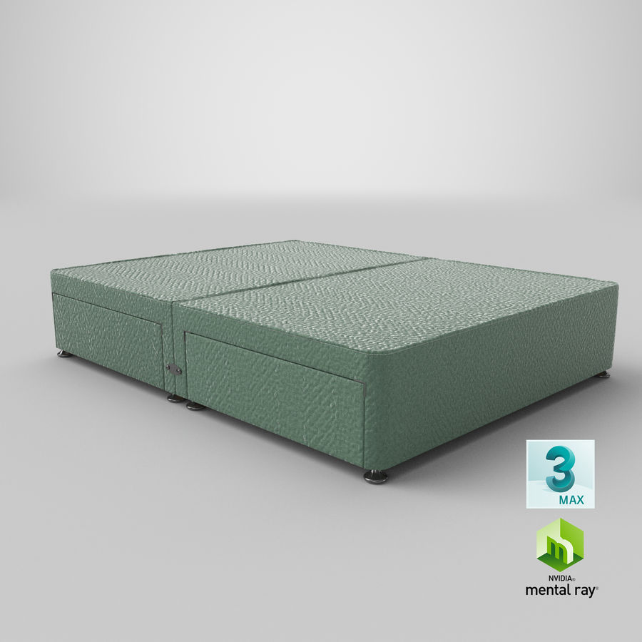 Bed Base 07 Mint royalty-free 3d model - Preview no. 24