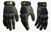 Gloves military fantasy scifi cloth protection 3d model
