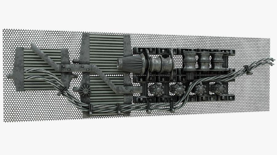 Детали двигателя Scifi royalty-free 3d model - Preview no. 2