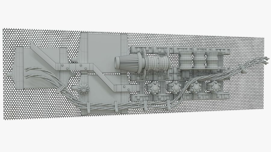 Детали двигателя Scifi royalty-free 3d model - Preview no. 3