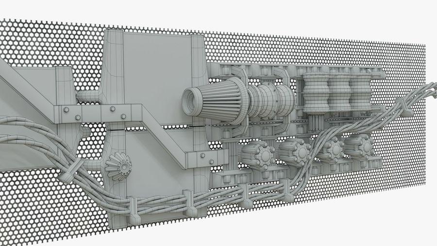 Детали двигателя Scifi royalty-free 3d model - Preview no. 9