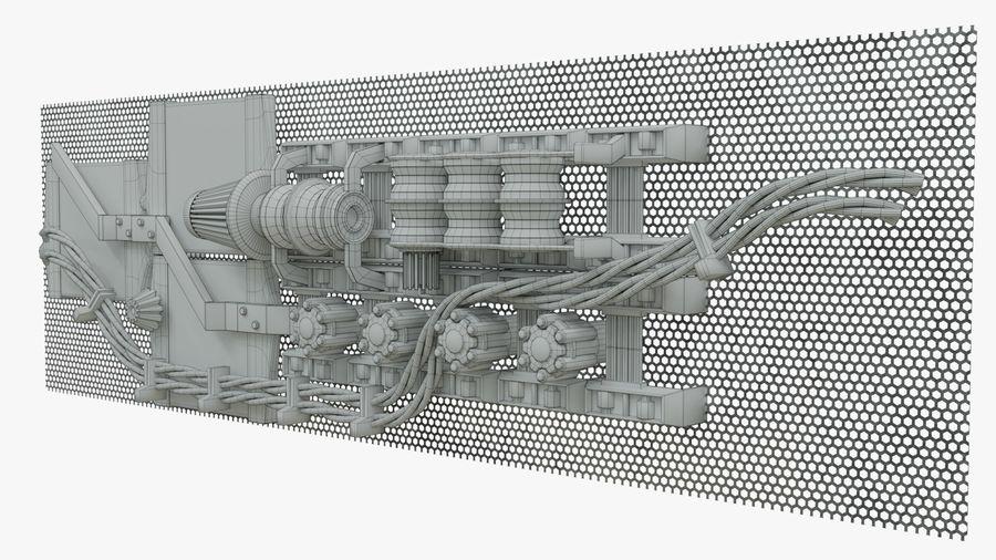 Детали двигателя Scifi royalty-free 3d model - Preview no. 7