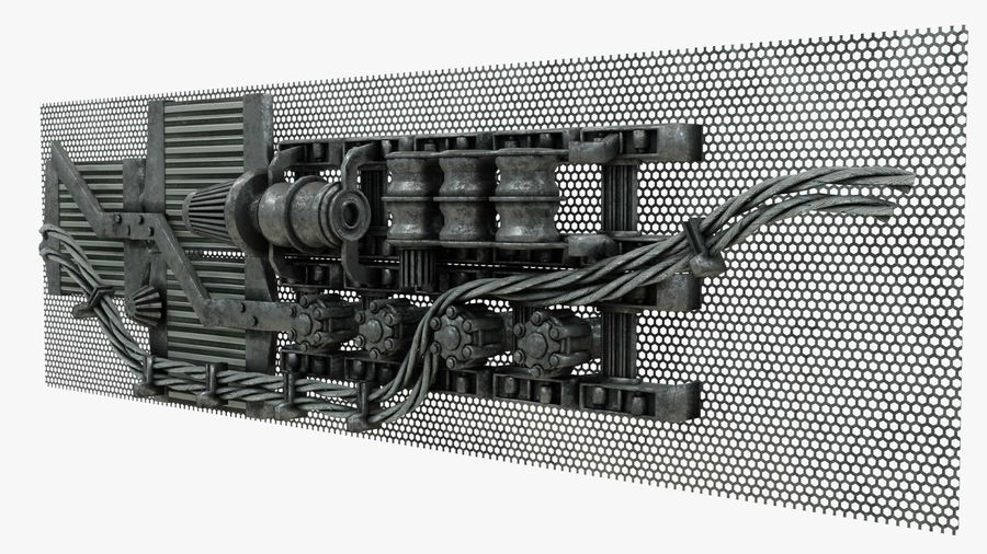 Детали двигателя Scifi royalty-free 3d model - Preview no. 6
