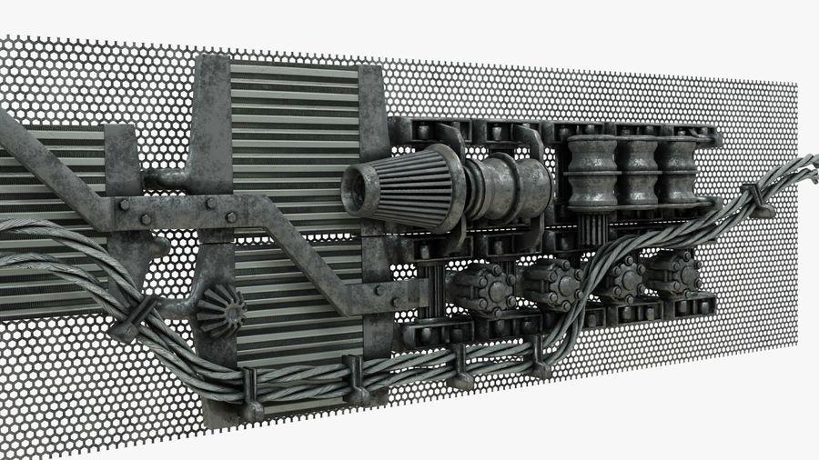 Детали двигателя Scifi royalty-free 3d model - Preview no. 8