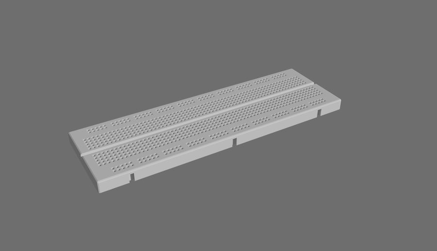 Proto board royalty-free 3d model - Preview no. 2