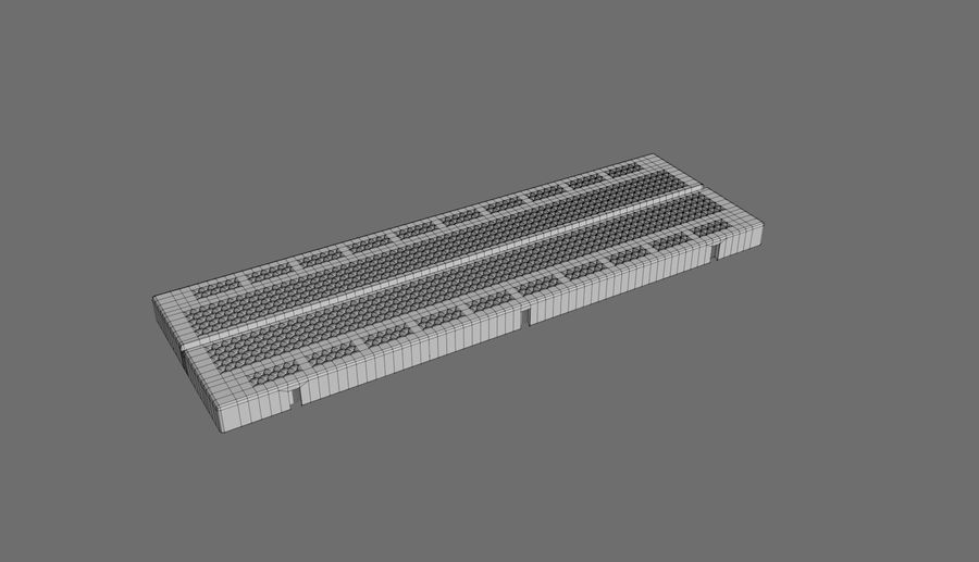 Proto board royalty-free 3d model - Preview no. 3