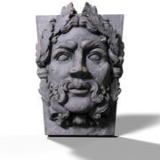 彫像の顔 3d model