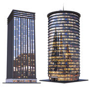 Skyscrapers - Night 3d model