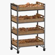 Étagère de vente au détail 02 01 avec patates douces 3d model