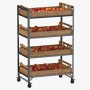 Retail Shelf 02 01 with Nectarine 3d model