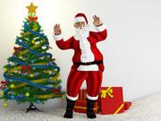Santa Clause rigged 3d model