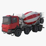 Röd betongblandare 3d model