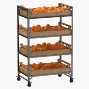 Étagère de vente au détail 02 01 avec oranges 3d model