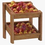 Wooden Merchandise Shelf 02 With Nectarine 3d model