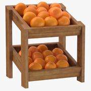 오렌지와 나무 상품 선반 02 3d model