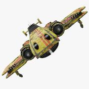 科幻双翼战斗机 3d model