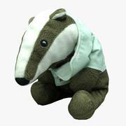 Plush Animal 14 Badger 3d model