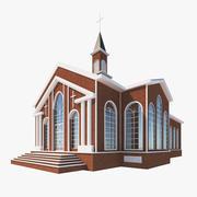 Низкополигональная церковь 3d model