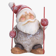 Santa Claus estatua decoración 01 modelo 3d