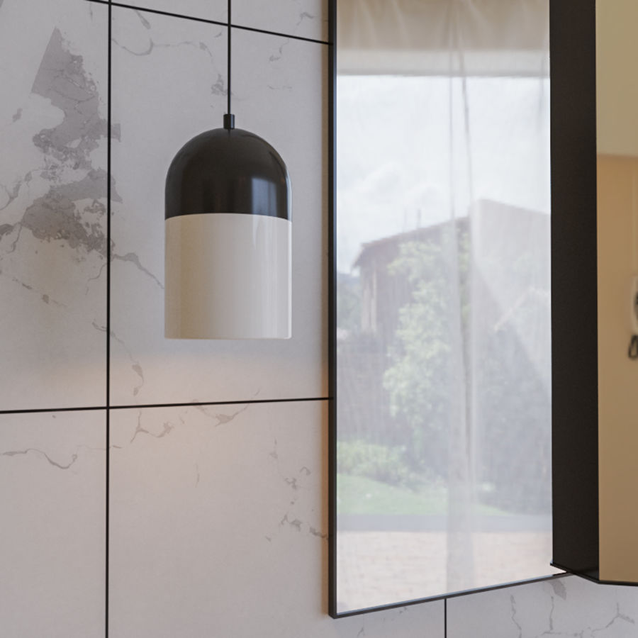 现代浴室套 royalty-free 3d model - Preview no. 1