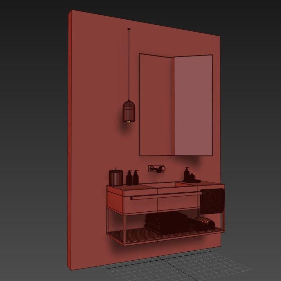 현대적인 욕실 세트 royalty-free 3d model - Preview no. 6