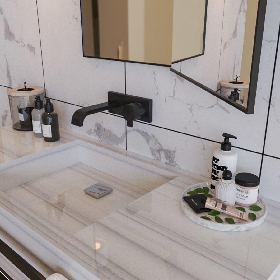 현대적인 욕실 세트 royalty-free 3d model - Preview no. 3