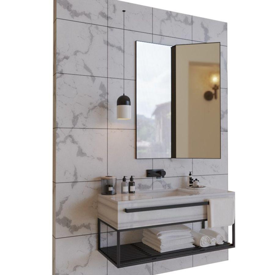 현대적인 욕실 세트 royalty-free 3d model - Preview no. 1