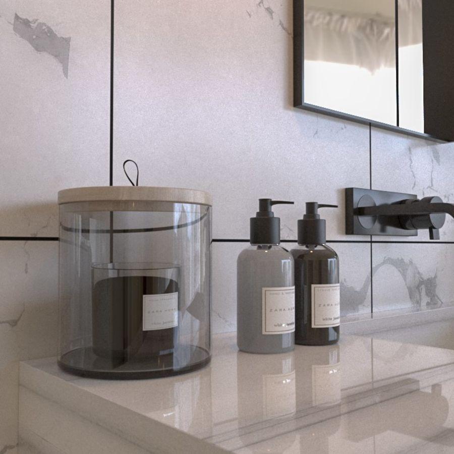 현대적인 욕실 세트 royalty-free 3d model - Preview no. 2